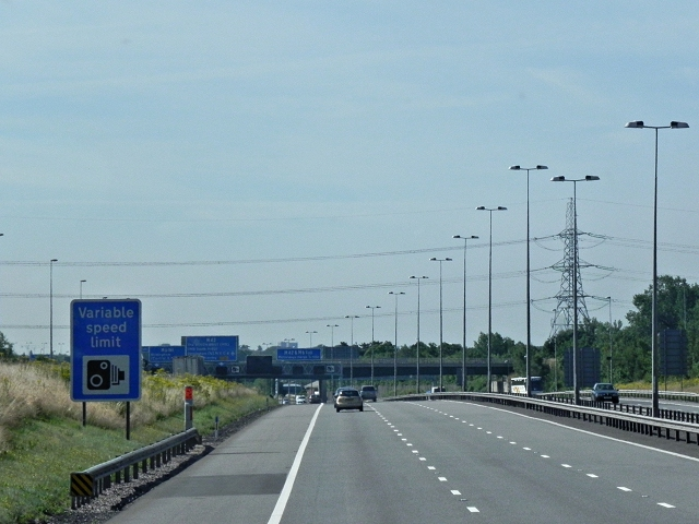 M6 Toll Road, Start of Variable Speed Limit