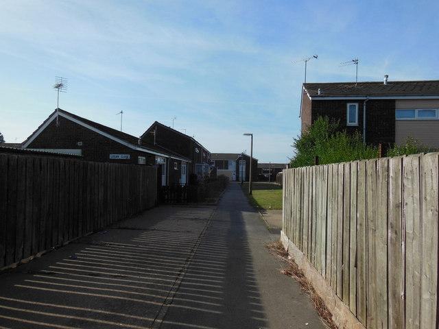 Houses on Logan Close, Bransholme, Hull