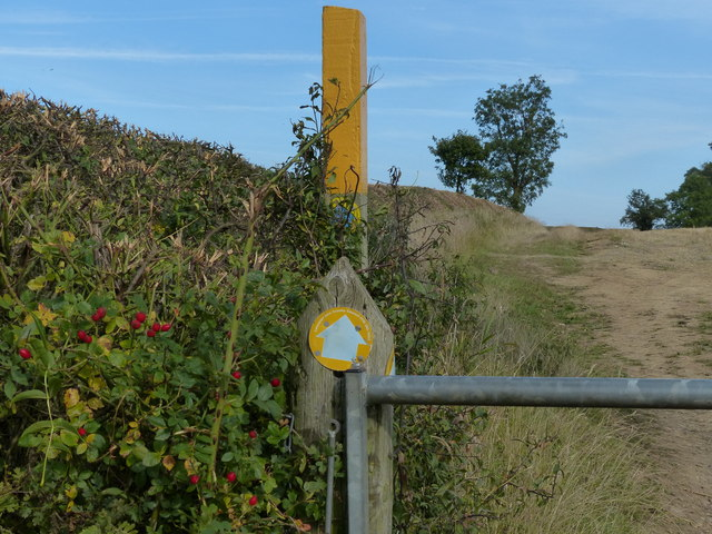 Public bridleway marker