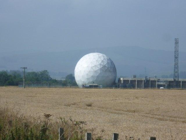 Giant golf ball at Balado