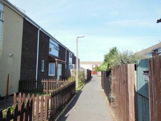 Houses on Newlyn Close, Bransholme, Hull