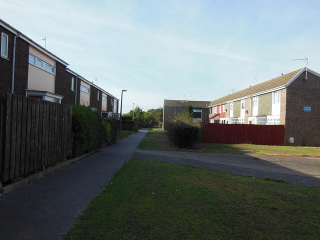 Houses on Newlyn Close, Bransholme, Hull