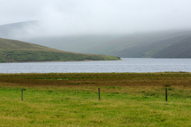 Mist and low cloud over Loch of Cliff
