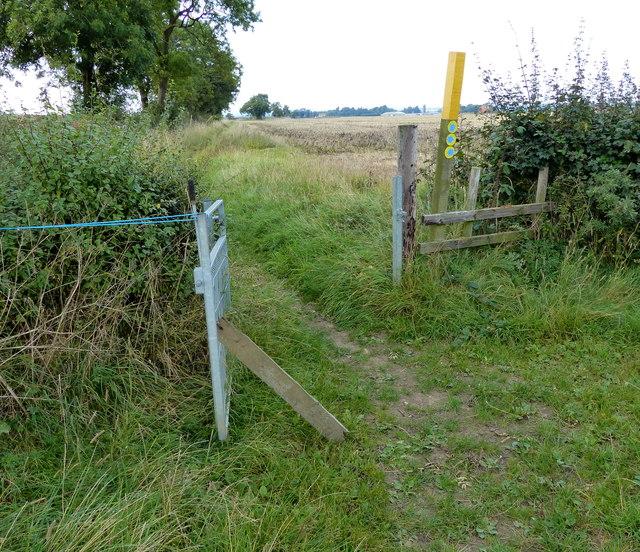 Public bridleway to Foston