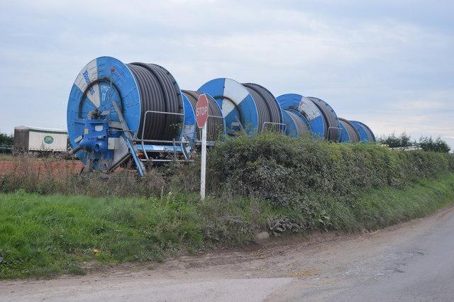 Irrigation equipment at PDM salads