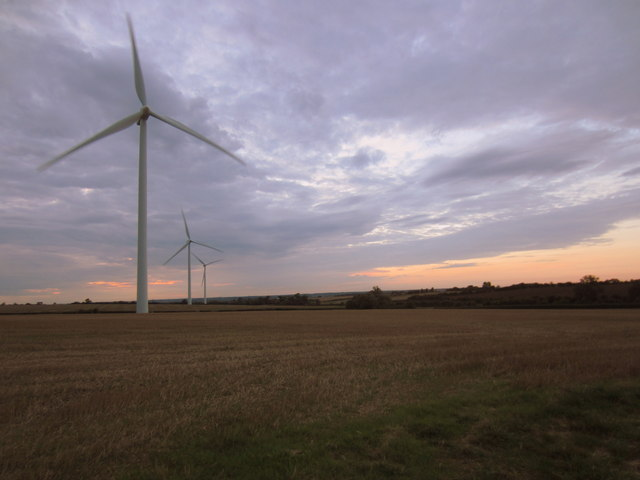 Wind turbines in the stubble