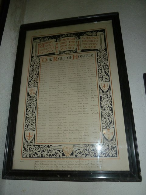 St Mary, Powerstock: Roll of Honour