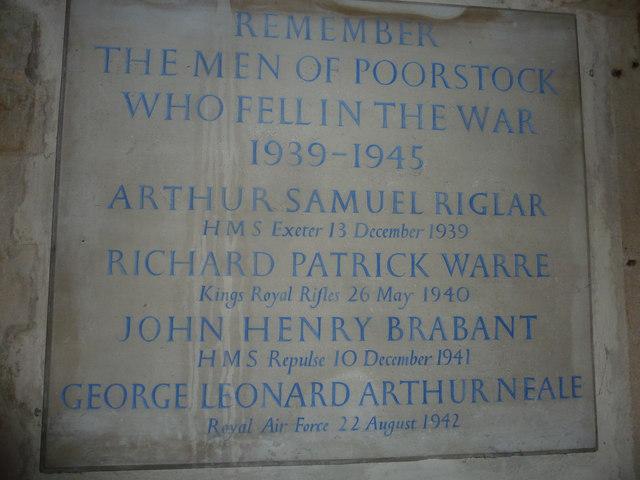 St Mary, Powerstock: memorial (7)