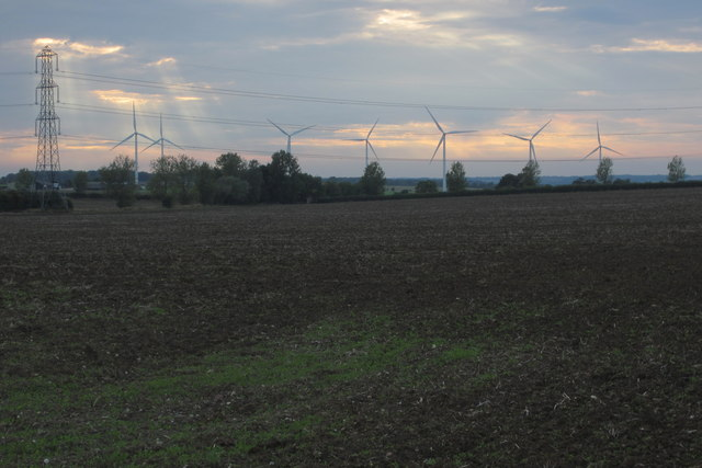Powerlines and turbines
