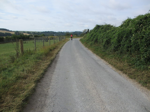 Cyclist on Peppering Lane