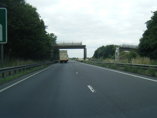 A180 at accident damaged bridge