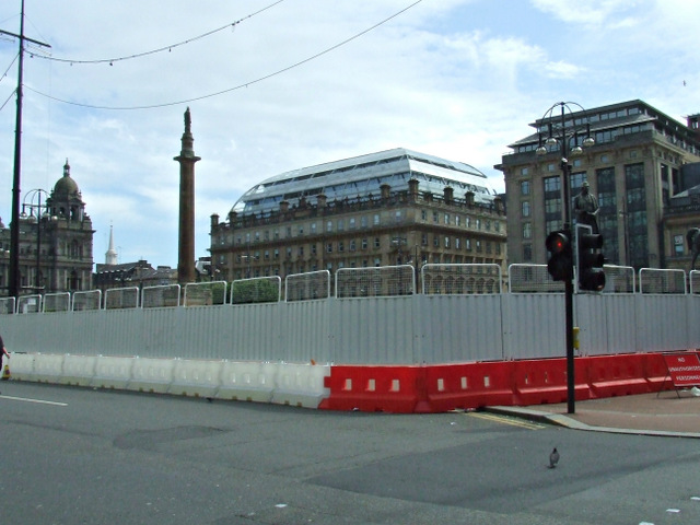 George Square redevelopment works