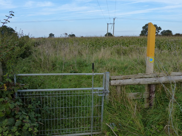 Gate along the bridleway
