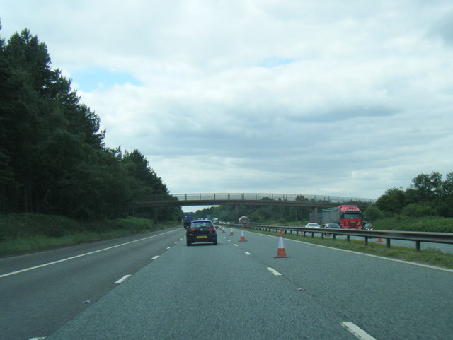 M180 westbound at Wrawby Moor