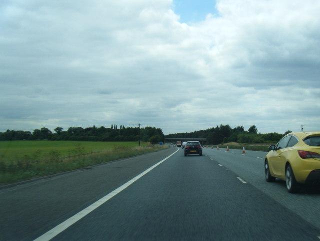 M180 north of Wrawby