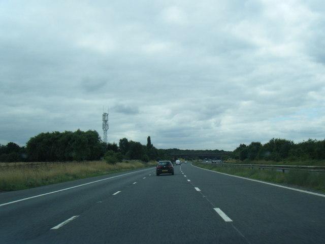 M180 westbound near Castlethorpe