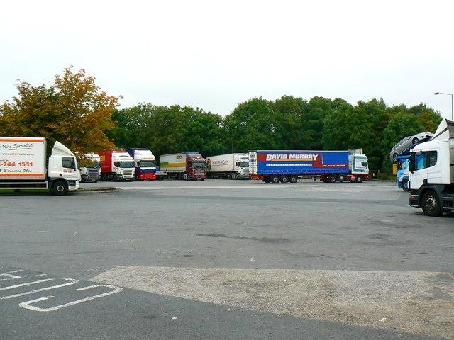 Lorry park, Charnock Richard Service Area, Chorley
