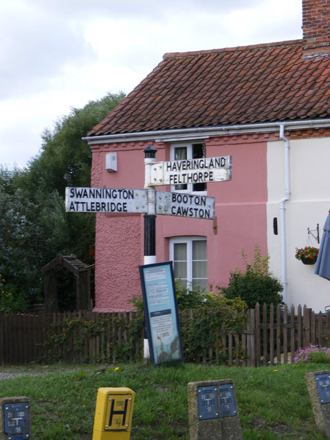 Roadsign on Cawston Road