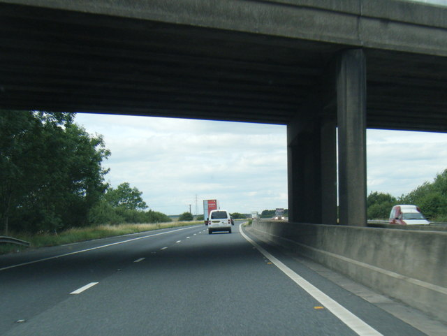 M180 passes under North Moor Lane