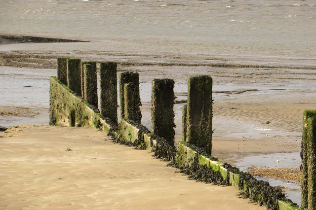 Groyne on the beach at Fleetwood