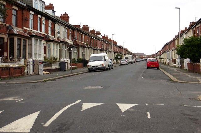 Keswick Road in Blackpool
