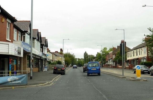 Blackpool Road in Preston