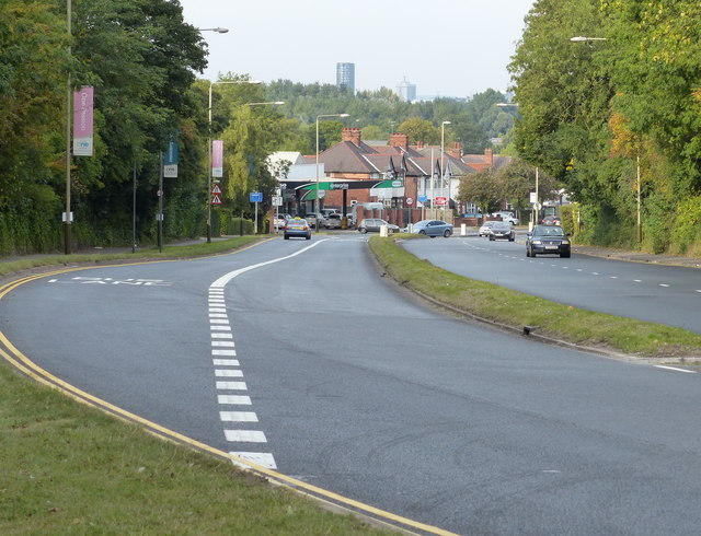 A426 Lutterworth Road towards Leicester