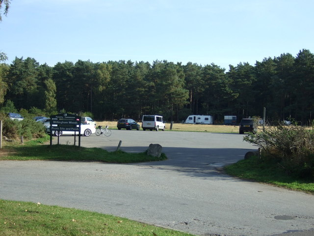 Car park and picnic site, Willingham Woods