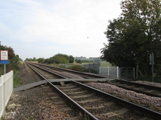 Halfpenny Lane railway crossing, Featherstone