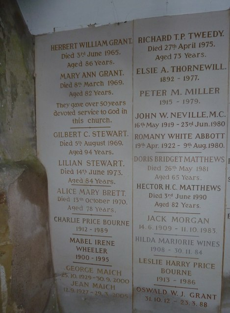 Church porch memorials, Sherrington (a)