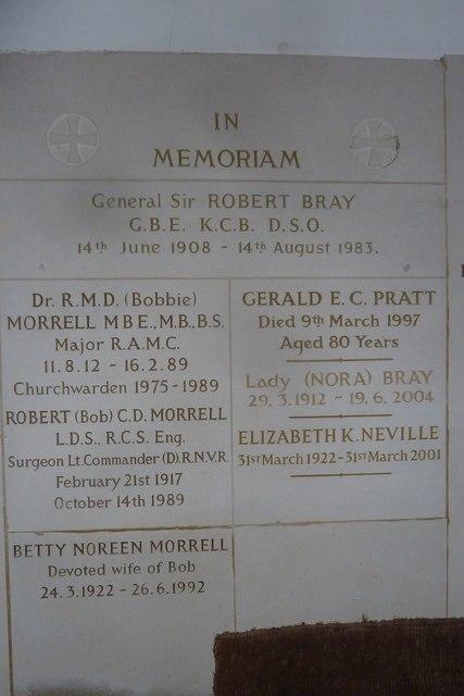 Church porch memorials, Sherrington (b)