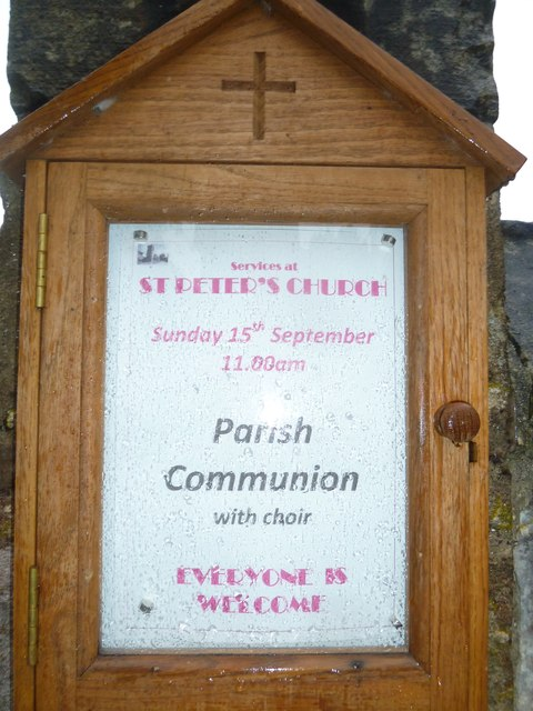 Codford St Peter: parish notice board
