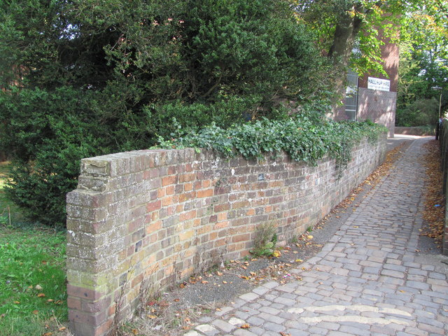 Cobbled Path and Old Cemetery Wall, Tring