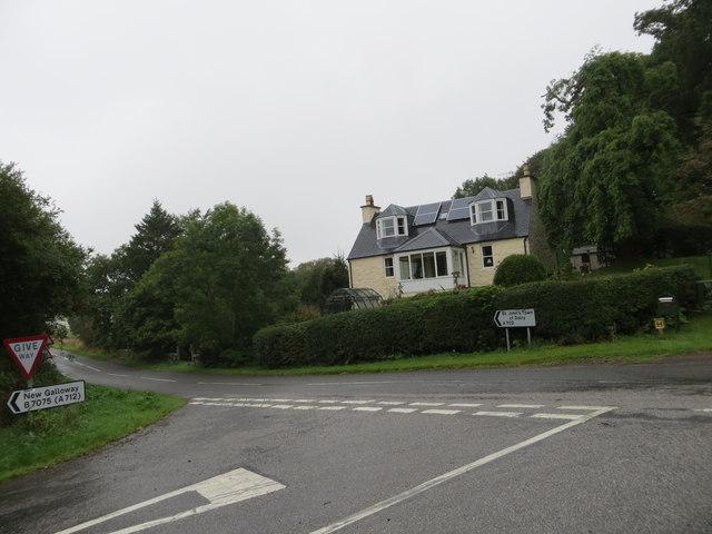 Bogue Toll at the road junction at Trollan Bridge