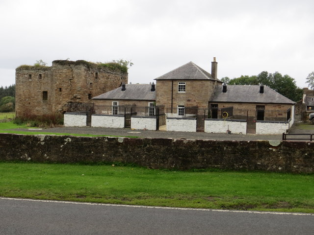 Kennels with the remains of Thomaston Castle
