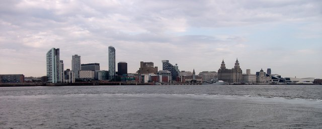 Liverpool Mersey Waterfront and Skyline