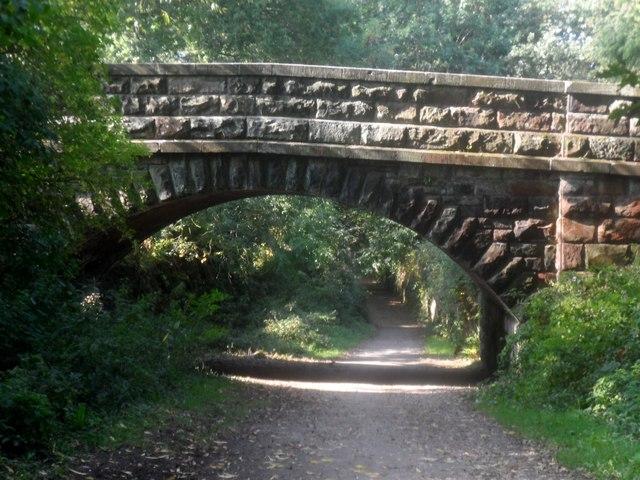 A sandstone bridge