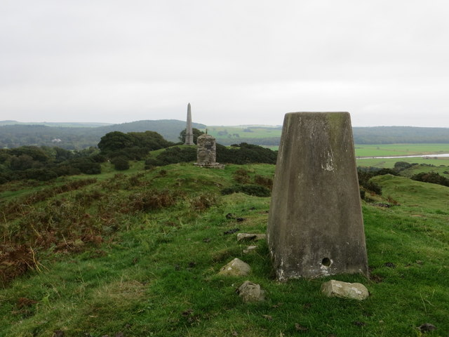 Anworth Hill with Rutherfords Monument, Cairn and Triangulation Pillar