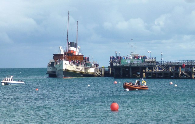 Steamboat at Swanage Pier