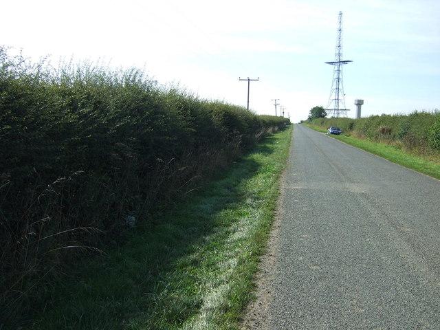 Minor road towards Donington on Bain