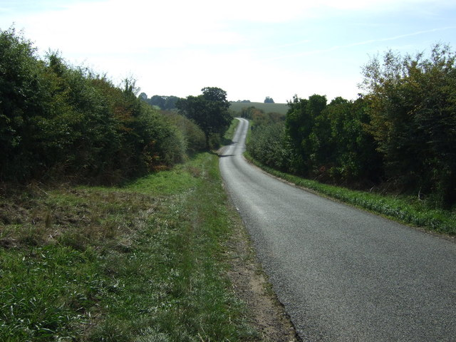 Minor road heading south