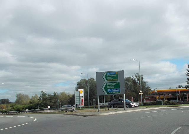 View from Fox Milne roundabout to garage