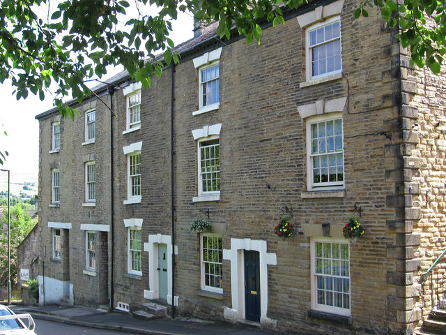 New Mills - High Street houses Nos 78 to 84