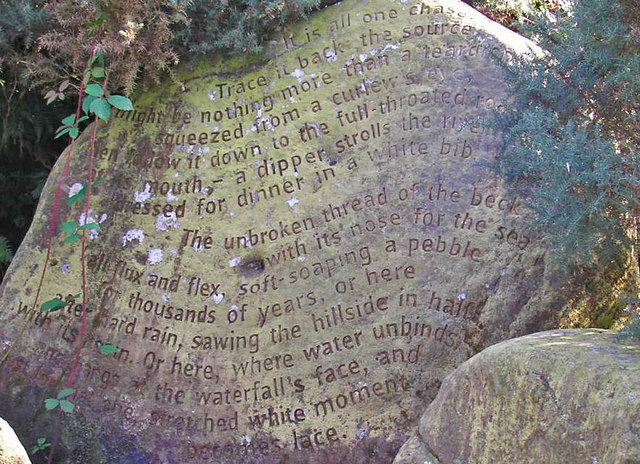 The Beck Stone - one of the Stanza Stones - close-up