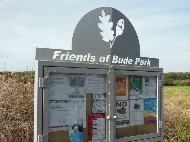 A notice board at Bude Park, Hull