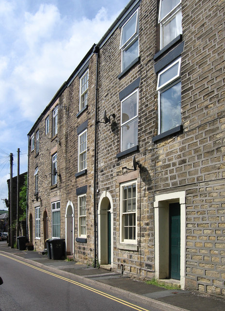 New Mills - houses on west side of High Street