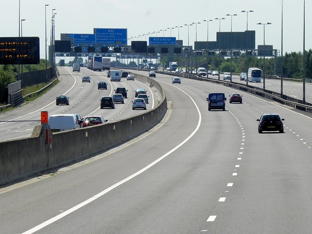 M6 Toll Road and M42 Southbound near Curdworth