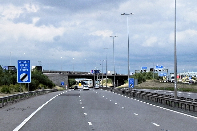 End of Variable Speed Limit, M6 Toll Road