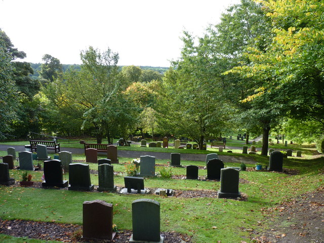 Cemetery on a slope