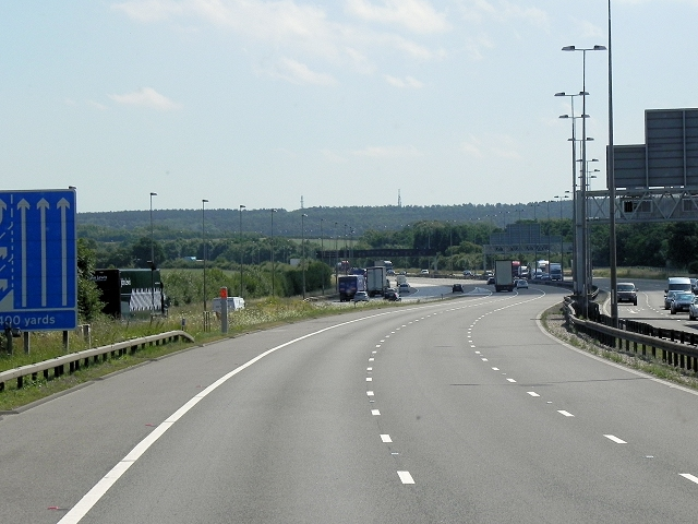 Southbound M6 Toll Road Merging with M6